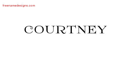 Courtney Flourishes Name Tattoo Designs