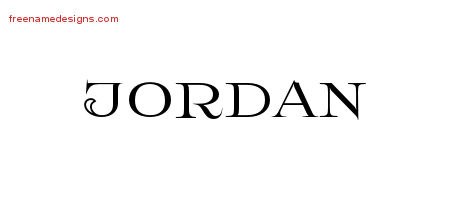 Jordan Flourishes Name Tattoo Designs