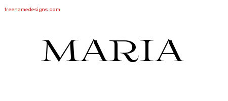 Maria Flourishes Name Tattoo Designs