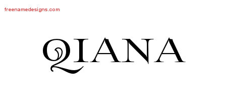 Qiana Flourishes Name Tattoo Designs