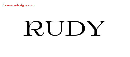Rudy Flourishes Name Tattoo Designs