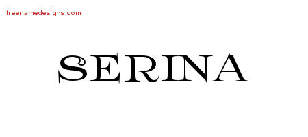 Serina Flourishes Name Tattoo Designs