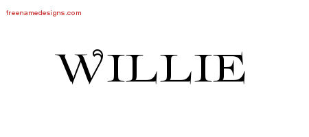 Willie Flourishes Name Tattoo Designs