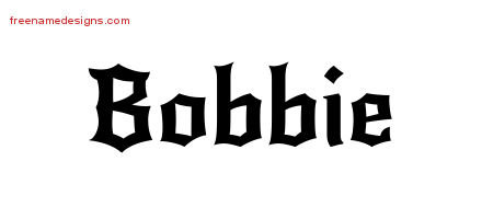 Bobbie Gothic Name Tattoo Designs