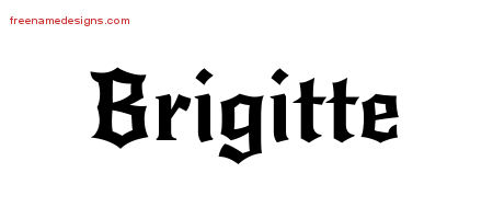 Brigitte Gothic Name Tattoo Designs