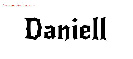 Daniell Gothic Name Tattoo Designs
