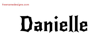 gothic name tattoo designs danielle free graphic free name designs. Black Bedroom Furniture Sets. Home Design Ideas