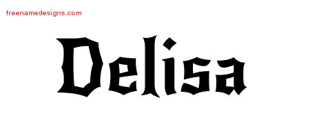 Delisa Gothic Name Tattoo Designs