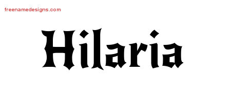 Hilaria Gothic Name Tattoo Designs