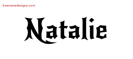 natalie name coloring pages | Gothic Name Tattoo Designs Natalie Free Graphic - Free ...