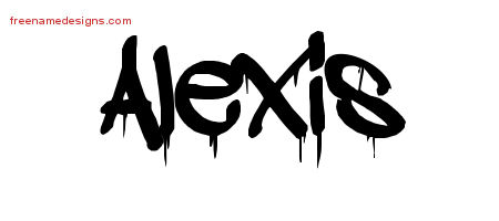 Alexis Graffiti Name Tattoo Designs