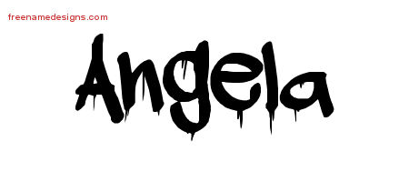 Graffiti Name Tattoo Designs Angela Free Lettering - Free ...