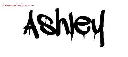 The Name Ashley In Graffiti