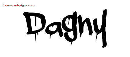 Dagny Graffiti Name Tattoo Designs