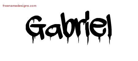 Gabriel Graffiti Name Tattoo Designs