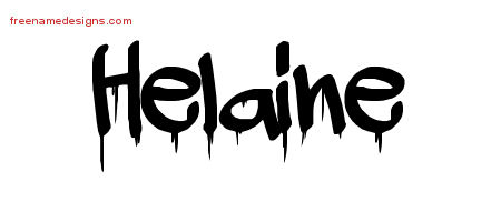 Helaine Graffiti Name Tattoo Designs