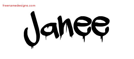Janee Graffiti Name Tattoo Designs