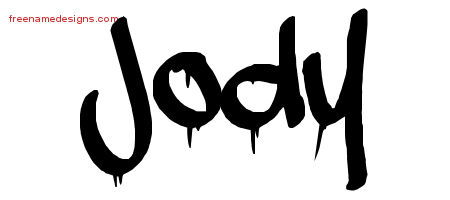Jody Graffiti Name Tattoo Designs