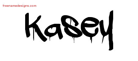 Kasey Graffiti Name Tattoo Designs