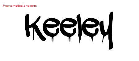 Keeley Graffiti Name Tattoo Designs