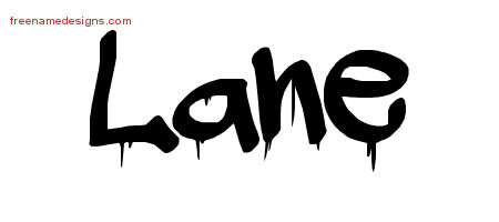 Lane Graffiti Name Tattoo Designs