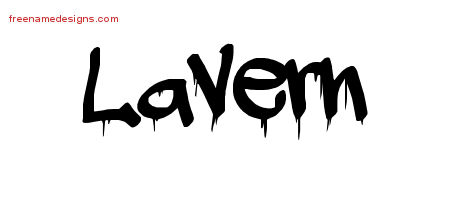 Lavern Graffiti Name Tattoo Designs