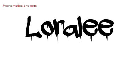 Loralee Graffiti Name Tattoo Designs