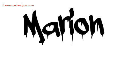 Marion Graffiti Name Tattoo Designs