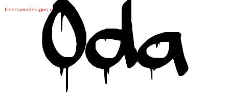 Oda Graffiti Name Tattoo Designs