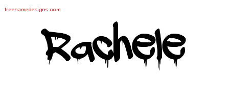 Rachele Graffiti Name Tattoo Designs