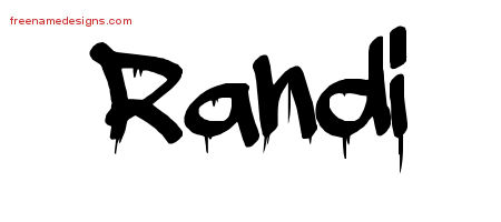 Randi Graffiti Name Tattoo Designs