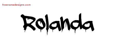 Rolanda Graffiti Name Tattoo Designs