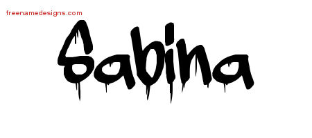 Graffiti Name Tattoo Designs Sabina Free Lettering - Free Name Designs