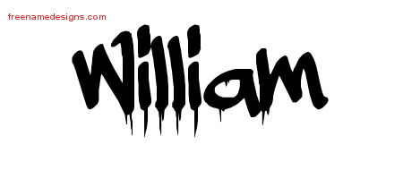 William Graffiti Name Tattoo Designs