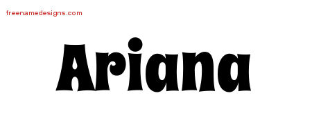 Groovy Name Tattoo Designs Ariana Free Lettering - Free ...