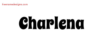 Charlena Groovy Name Tattoo Designs