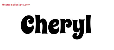 Cheryl Groovy Name Tattoo Designs