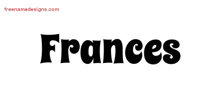 Groovy Name Tattoo Designs Frances Free Lettering - Free ...