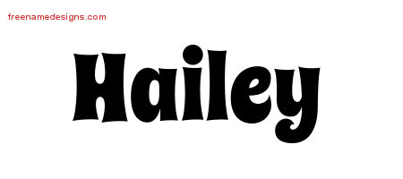 groovy name tattoo designs hailey free lettering free name designs. Black Bedroom Furniture Sets. Home Design Ideas