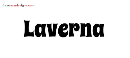 Laverna Groovy Name Tattoo Designs