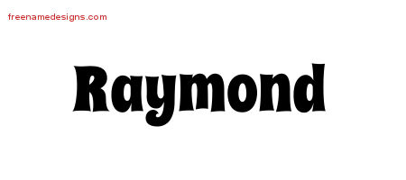 Raymond Groovy Name Tattoo Designs