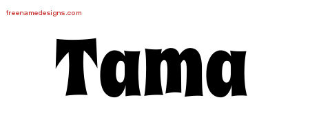 Groovy Name Tattoo Designs Tama Free Lettering - Free Name ...
