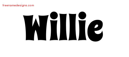 Willie Groovy Name Tattoo Designs