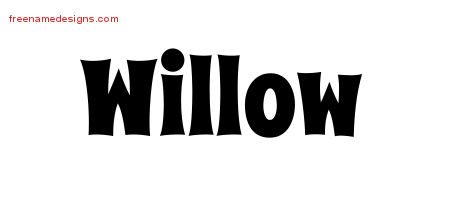 Groovy Name Tattoo Designs Willow Free Lettering - Free ...