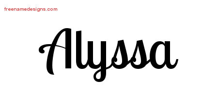 the name alyssa coloring pages | Handwritten Name Tattoo Designs Alyssa Free Download ...