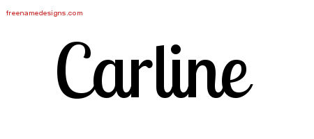 Carline Handwritten Name Tattoo Designs