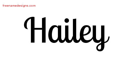 The Name Hailey In Bubble Letters
