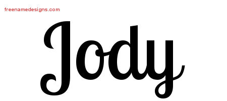 Jody Handwritten Name Tattoo Designs