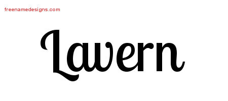 Lavern Handwritten Name Tattoo Designs