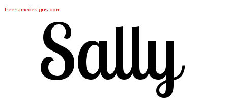 Sally Handwritten Name Tattoo Designs